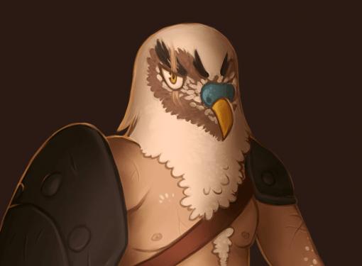 Gladiator Budgie bird CDC by Smirking Raven