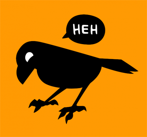Smirking Raven logo
