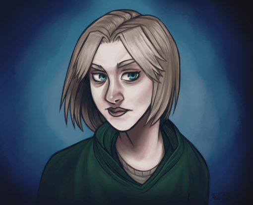 Character portrait widow ranger D&D by Smirking Raven