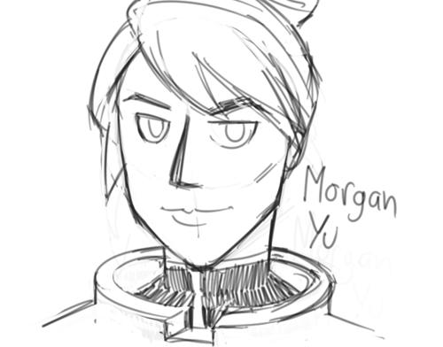 Morgan Yu from Prey lineart by Smirking Raven