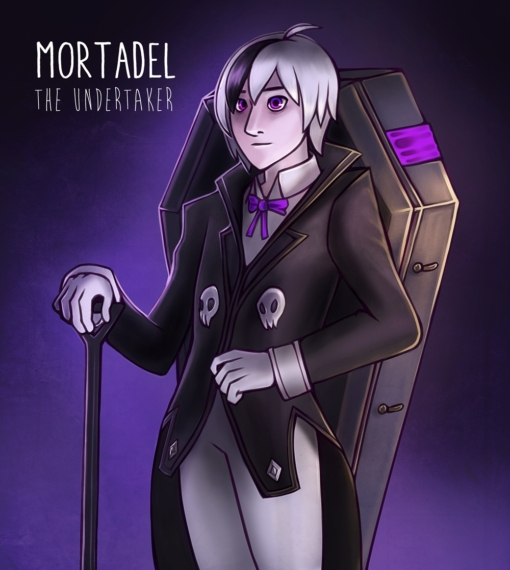 Mortadel the Undertaker necromancer D&D by Smirking Raven