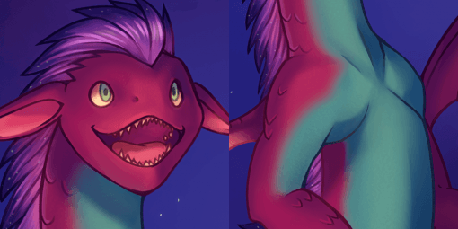 Space Dragon Close-Up by Smirking Raven
