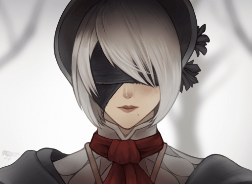 Plain Doll from Bloodborne and 2B from Nier : Automata Close-Up by Smirking Raven