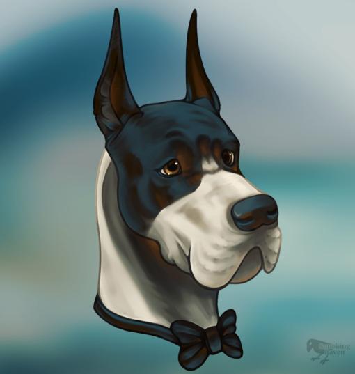 Noble Dog Great Dane portrait by Smirking Raven