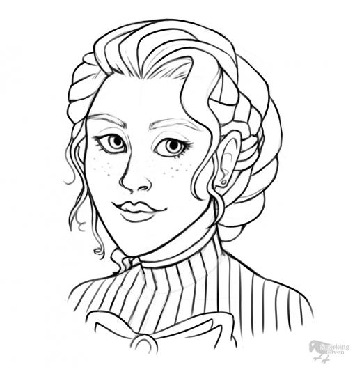 Esther the Noble Gunslinger D&S 5e lineart by Smirking Raven