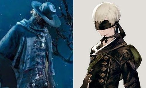 Father Gascoigne from Bloodborne and 9S from Nier Automata