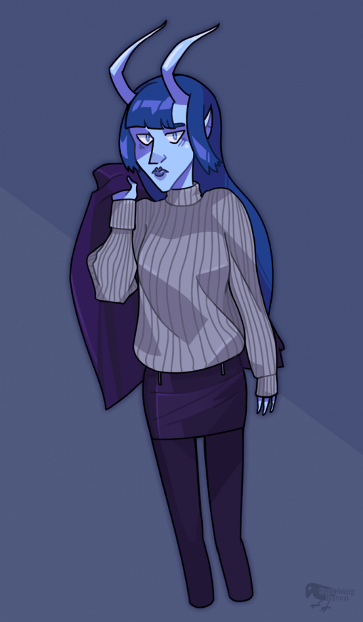 Frigid the Cold Imp by Smirking Raven