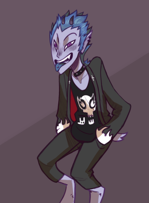 Chiyeol the Punk Satyr by Smirking Raven