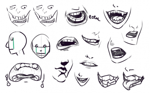 Mouths Drawing Drill Challenge by Smirking Raven