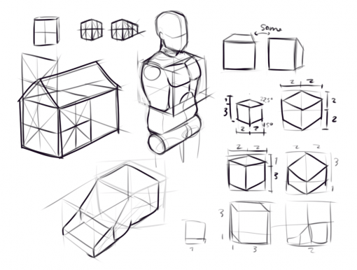 Cubes Drawing Drill Challenge by Smirking Raven