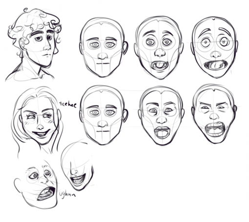 Expressions Drawing Drill Challenge by Smirking Raven