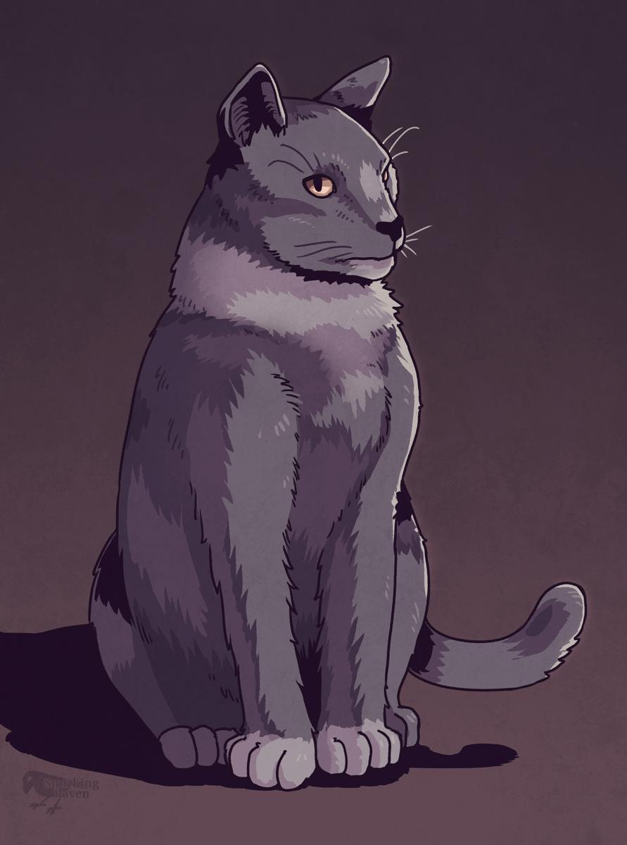Cat Mr. Wuss by Smirking Raven