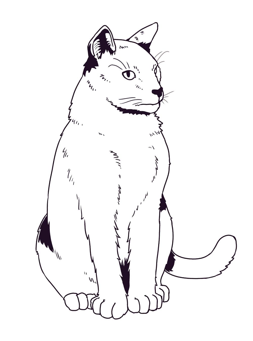 Cat Mr. Wuss lineart by Smirking Raven