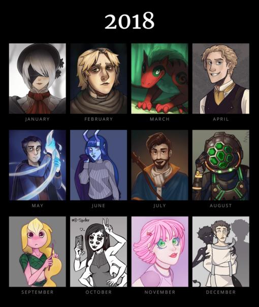 New Year 2018 by Smirking Raven