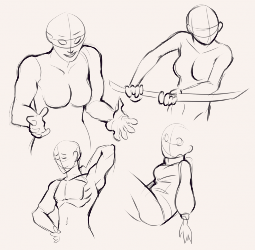 Upper body Drawing Drill Challenge by Smirking Raven