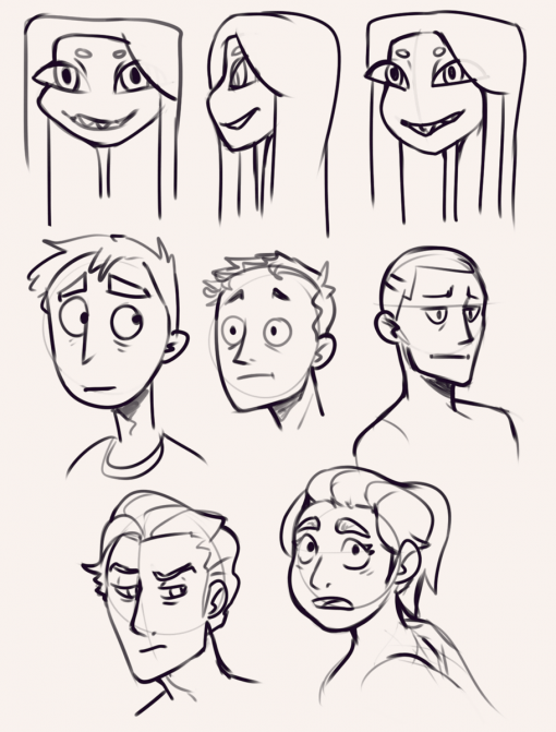 Faces practices by Smirking Raven