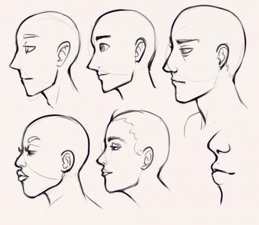 Profile faces by Smirking Raven