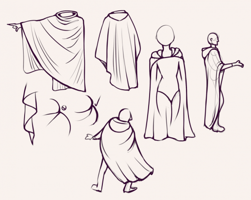 Capes drawing by Smirking Raven