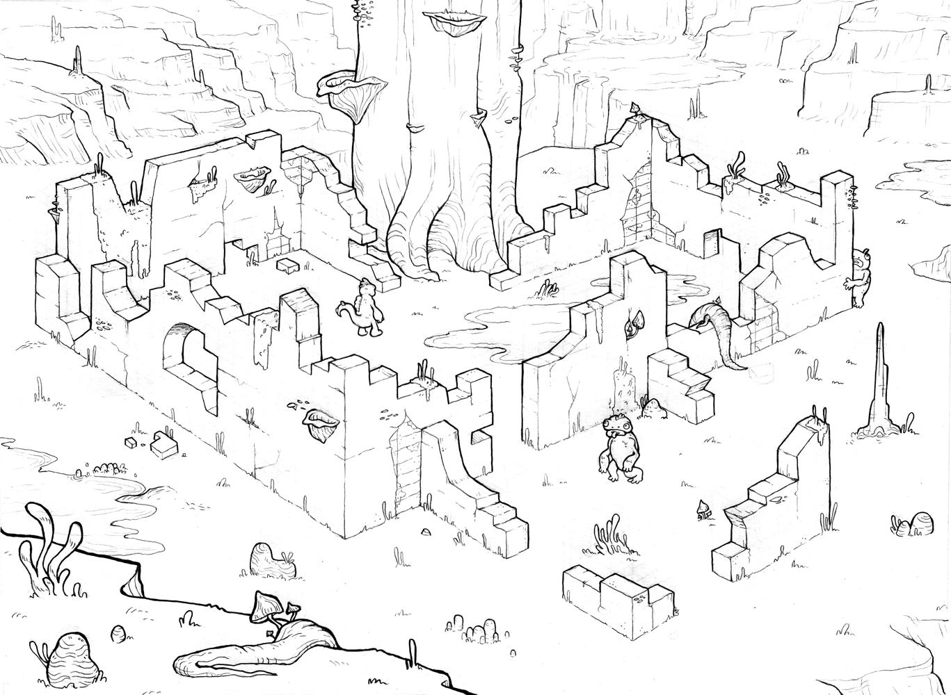 Perspective ruins homework by Smirking Raven