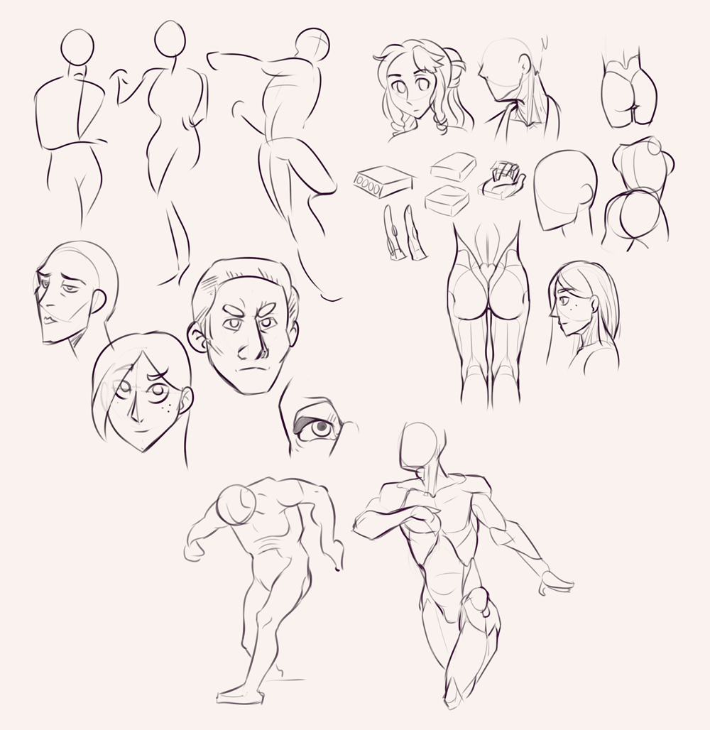 Drawing drill&nbsp;#32: <br>Gestures, faces, anatomy and miscellaneous by Smirking Raven