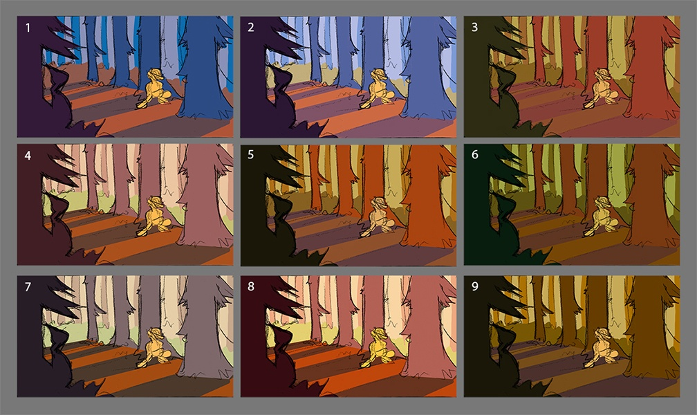 Morning landscape color thumbnails by Smirking Raven