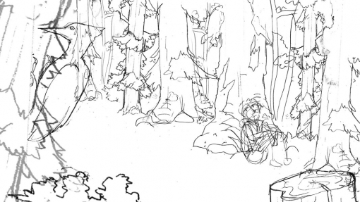 Morning landscape lineart rough by Smirking Raven