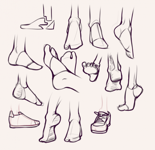 Feets - Drawing drills by Smirking Raven