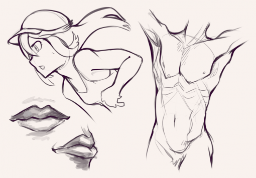 Torso - Drawing drills by Smirking Raven