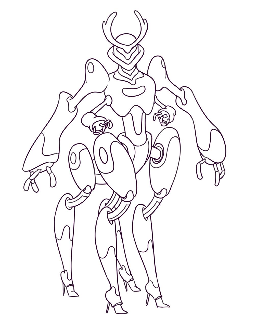 Bug mech lineart by Smirking Raven