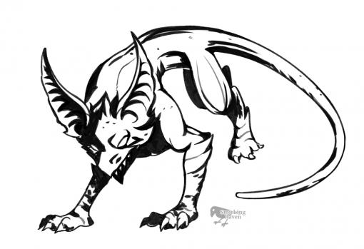 Riftstalker - Dauntless behemot fanart lineart by Smirking Raven