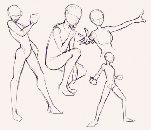 Poses - Drawing drills by Smirking Raven