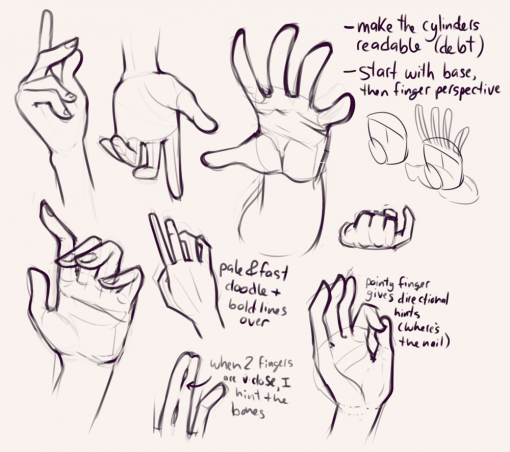 Hands - Drawing drills by Smirking Raven
