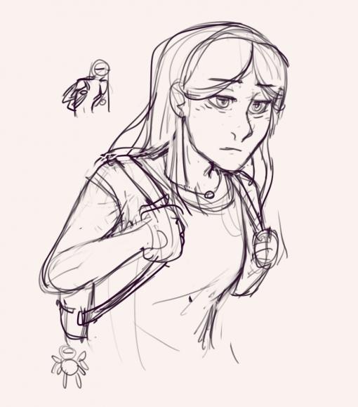 Sad girl - Drawing drills by Smirking Raven