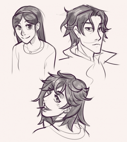 Anime faces - Drawing drills by Smirking Raven