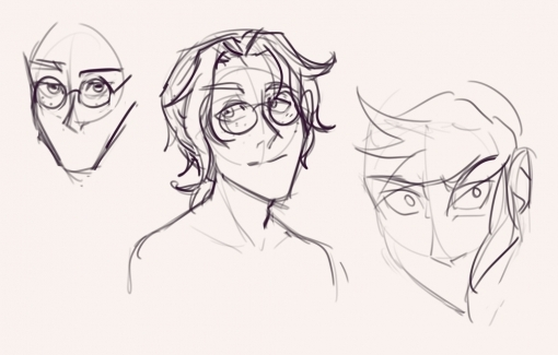 Faces - Drawing drills by Smirking Raven