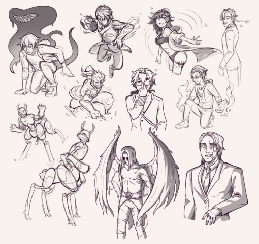 Compilation 44 - Action poses and gestures drawing - Drawing Drill Challenge by Smirking Raven