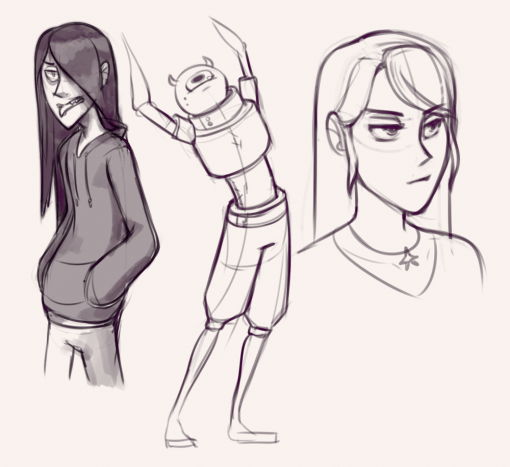 Character design and poses - Drawing drills by Smirking Raven