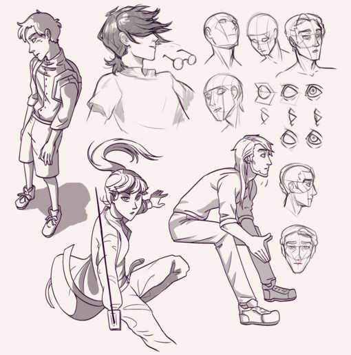 Compilation 47 - Character action poses and face anatomy studies - Drawing Drill Challenge by Smirking Raven