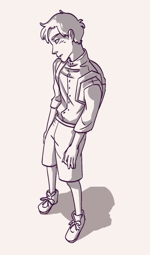 Young school boy deliquent pose - Drawing drills by Smirking Raven