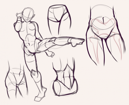 Hips, torso and pose - Drawing drills by Smirking Raven
