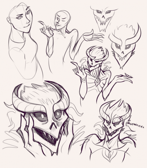 Alien faces and expressions - Drawing drills by Smirking Raven