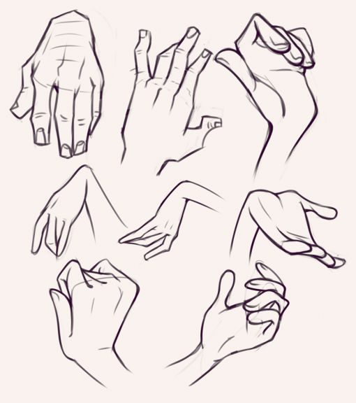 Hand gestures practice poses - Drawing drills by Smirking Raven