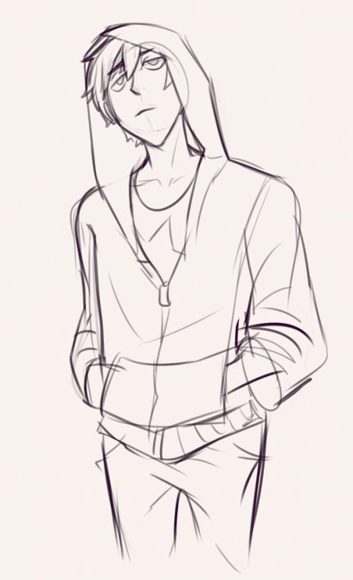 Teenager hoodie - Drawing drills by Smirking Raven