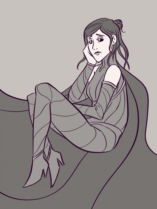 Women sad lost - Drawing Drills by Smirking Raven