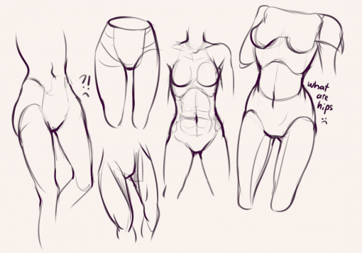 Drawing drill #55: <br/>Feet, hips and hands by Smirking Raven