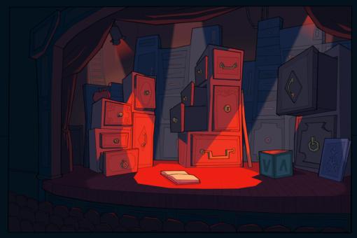 Doll Theater Matilda Background by Smirking Raven