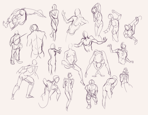 Drawing drill#60: <br/>Quick poses and chest anatomy by Smirking Raven