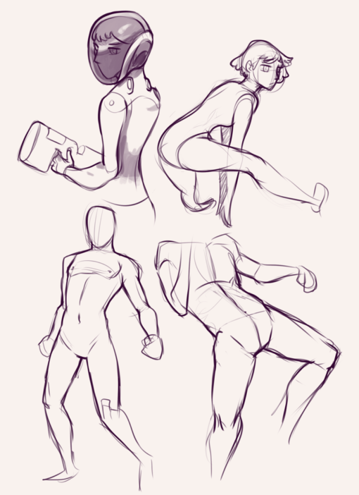 Drawing drill#63: <br/>heads and gestures by Smirking Raven