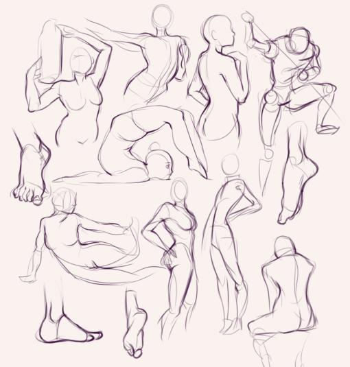 Drawing drill#67: <br/>Gestures, faces and torsos by Smirking Raven
