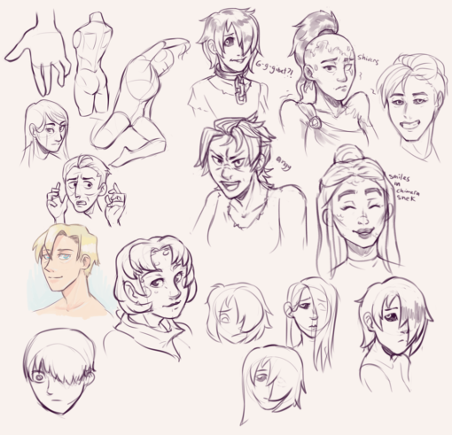 Drawing drill#69: <br/>Expressions by Smirking Raven